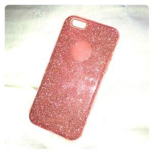 Pink glitter iPhone 8 case